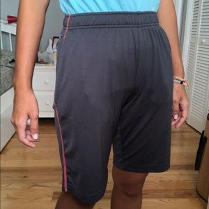 Dark gray athletic shorts